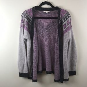 Gray and Purple Sweater
